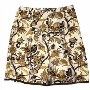 NWT Old Navy Cream Silk Rooster Paisley Skirt S 16